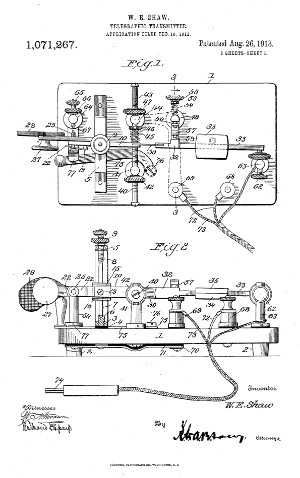 Telegraphic Transmitter patent
