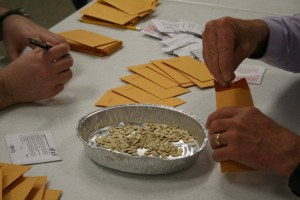The library is approaching 10,000 packets of seeds. Photo courtesy of the High Plains Seed Library.