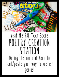One of the Riverton Branch Library Teen Scene activities for National Poetry Month.