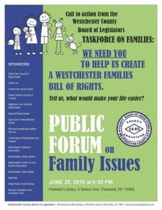 From volume 18, Westchester Library System sponsored a Public Forum on Family Issues.