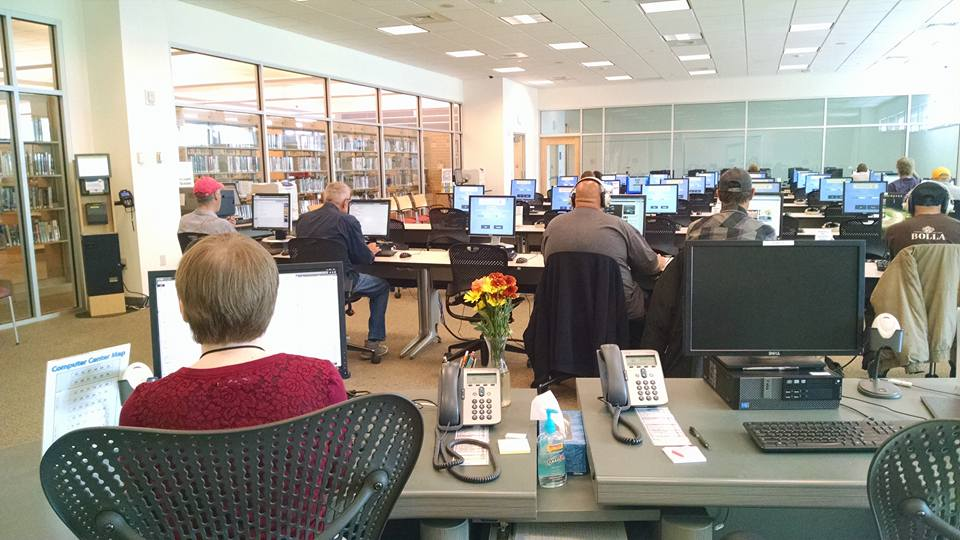 The computer room at Laramie County Library in Cheyenne.