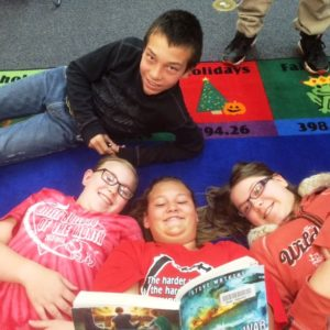 Students reading at Sundance Elementary School.